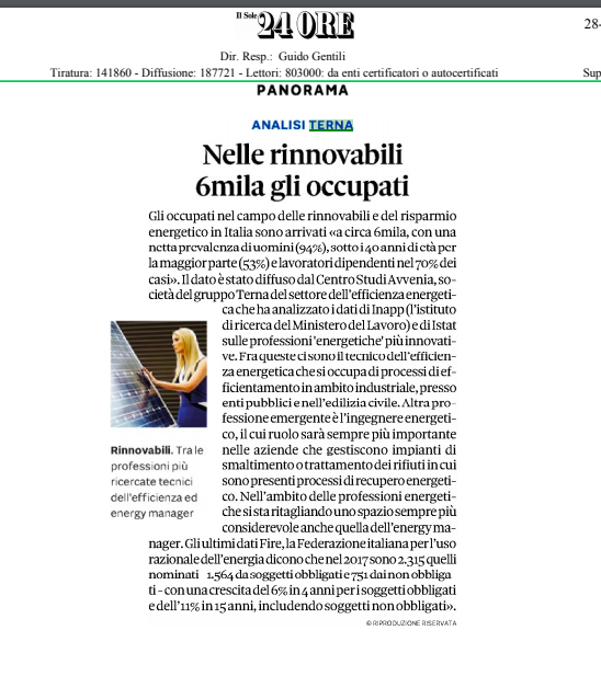 Energy Manager Il Sole 24 Ore