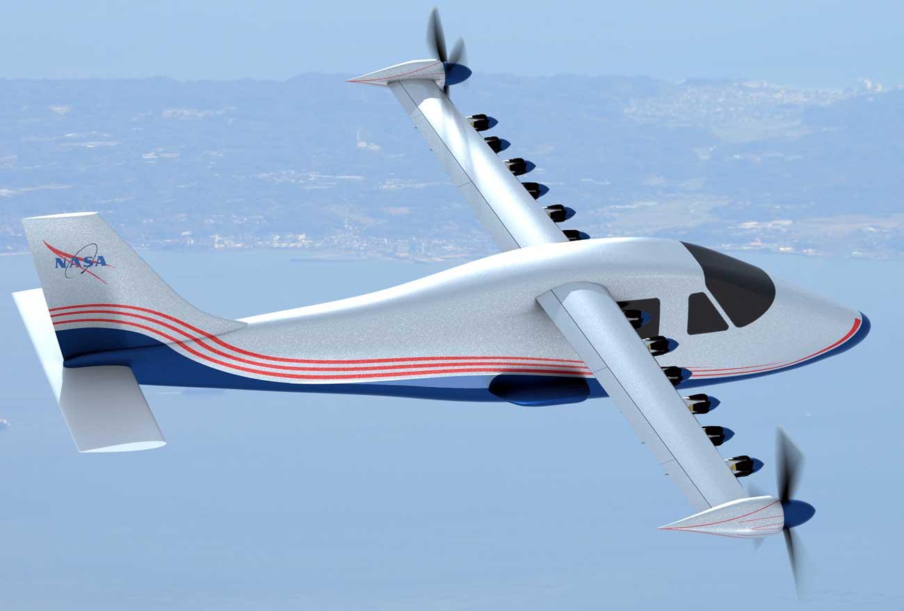 aerei ibridi e-jet nasa