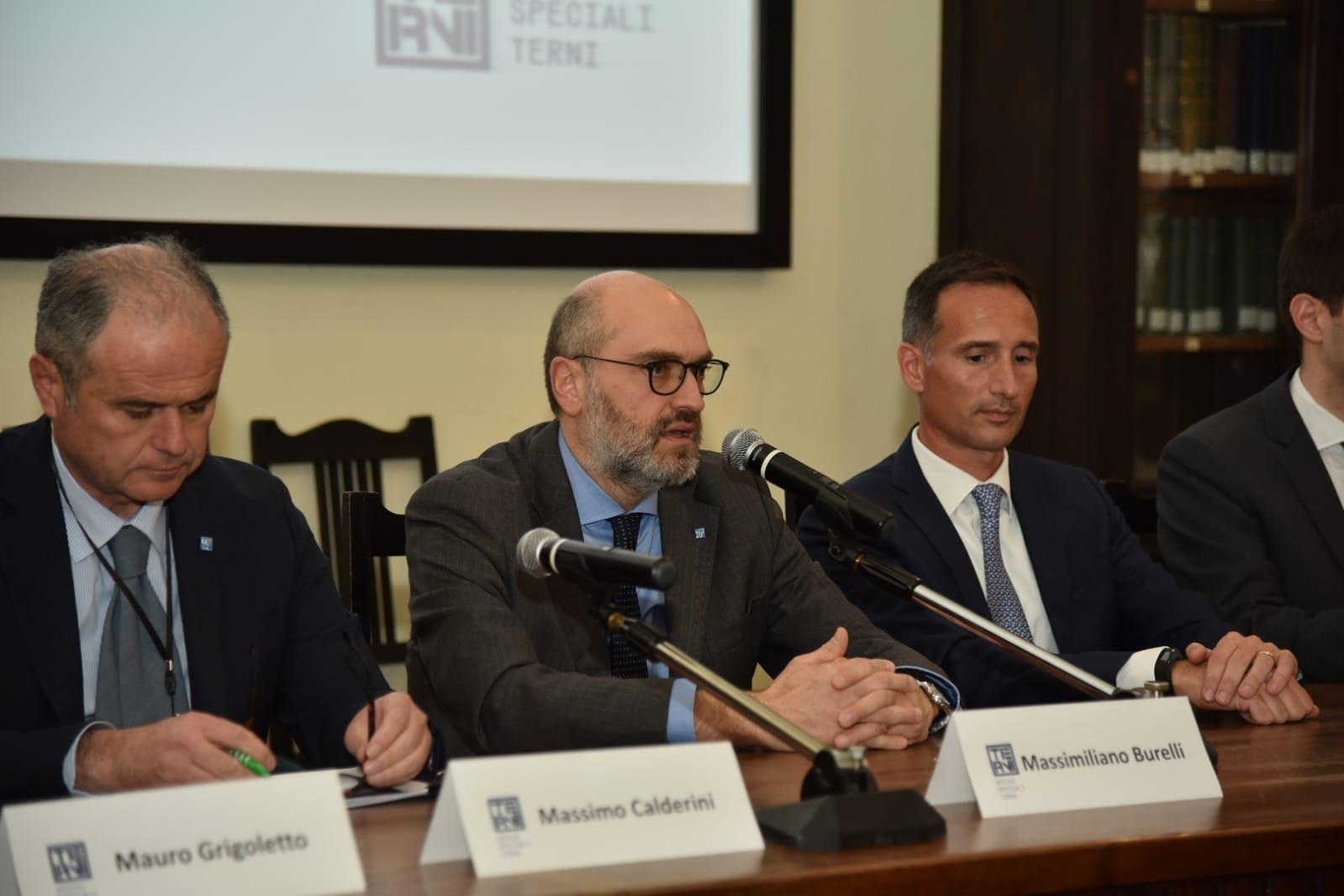 Massimiliano Burelli Avvenia AST Inaugurazione Nuovo Impianto Acciaio Terni 2019