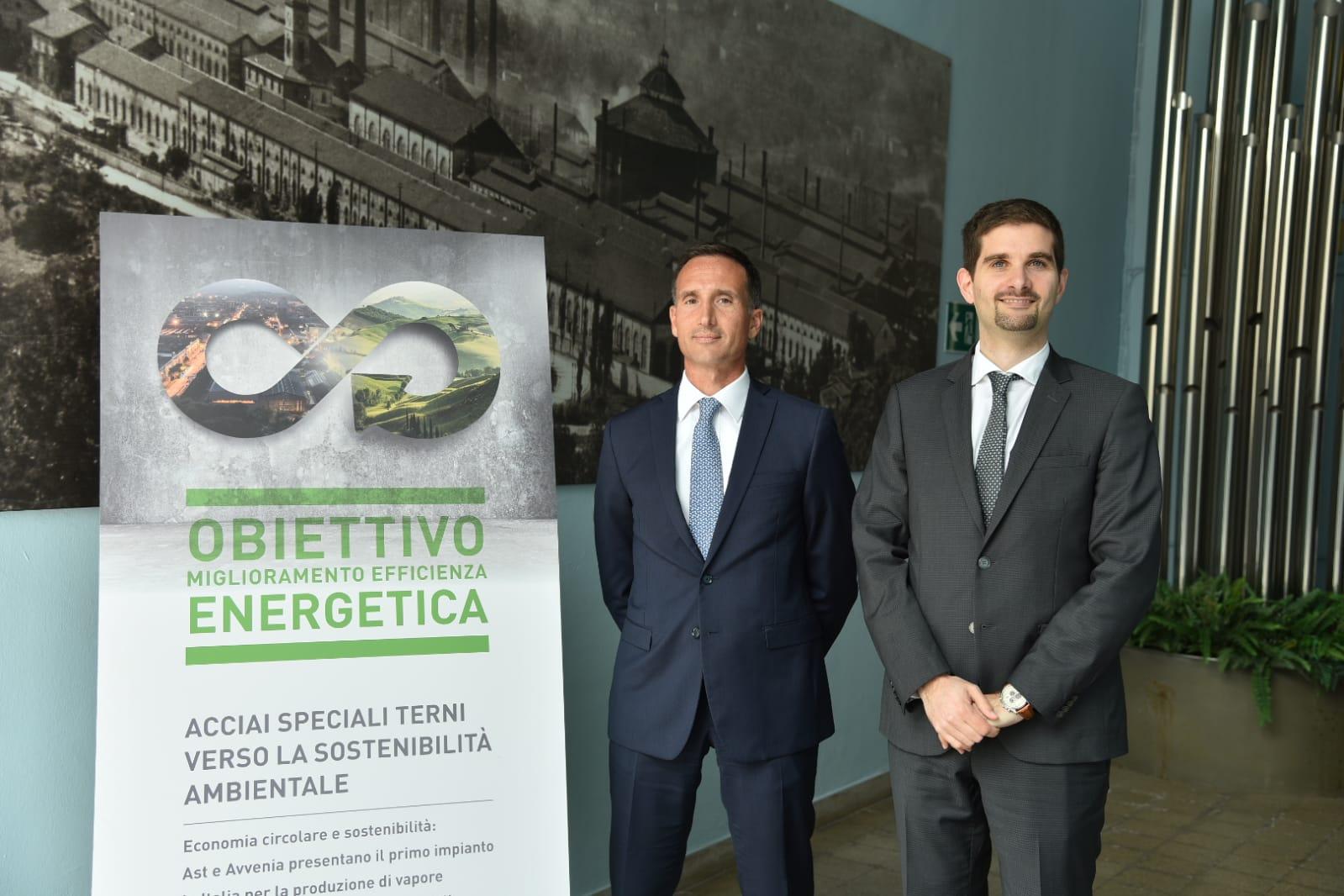 Luca Piemonti Francesco Campaniello - Avvenia AST Inaugurazione Nuovo Impianto Acciaio Terni 2019