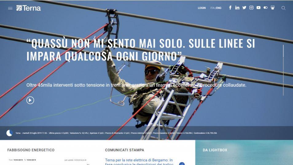 Nuovo sito Terna.it