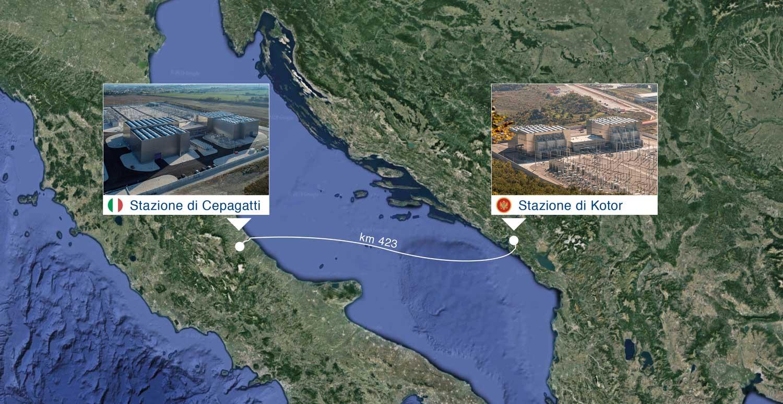 Cavidotto Italia Montenegro Terna Mare